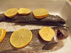Sarah aan de Kook: Forellen uit de oven met gepofte aardappels, knofl...