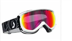 f6eebf7a025 Scott Reply Ski Snowboard Goggles in Gloss White Red Chrome Lens