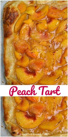 Fresh peaches in puffed pastry make the best summer dessert!