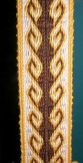 La tejedora de Oseberg: Telar de tablillas o egipcio. El diseño Ram´s Horn