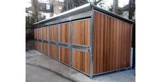 The Odoni-Elwell Timber-clad Secure ST1 Bike Shelter