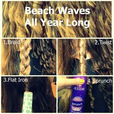 Beach Waves with Aussie Sprunch Spray