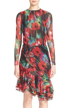 JASON WU Floral Print Silk Chiffon Blouse. #jasonwu #cloth #