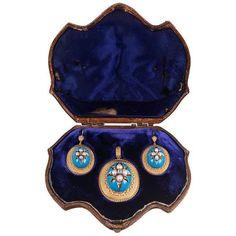 Victorian Turquoise Enamel, Pearl Diamond Locket Pendant Earrings... ($11,010) ❤ liked on Polyvore featuring jewelry, pendants, diamond pendant, turquoise jewelry, pearl diamond pendant, victorian locket and pearl jewelry