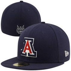 New Era Arizona Wildcats Master 59FIFTY Fitted Flat Bill Hat - Navy Blue 8136530ba86e