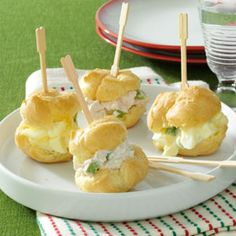 Party Puffs Recipe from Taste of Home - Egg Salad & Ham Salad Recipes