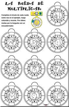 tablas-de-multiplicar-en-circulo-b-n Educational Games For Kids, Learning Games, Math Games, Second Semester, Multiplication Facts, Simple Math, Math For Kids, Math Worksheets, Album