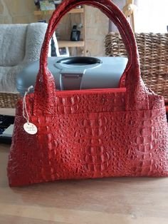 Sac City Zip-Zip rouge de Nathalie B - Patron sac double zip Sacôtin