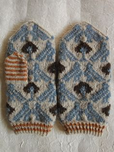 鳥のミトン birds on mitten
