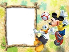 Mickey and Donald Scrapbooking, Disney Scrapbook, Cartoon Photo, Cartoon Kids, Disney Diy, Walt Disney, Best Photo Frames, Picture Frames, Disney Frames
