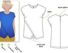 Fern Woven Top - Sizes 22, 24, 26 - Women's Sewing Pattern - Woven Top PDF Sewing Pattern by Style Arc