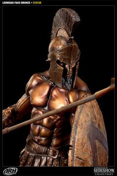 Sideshow Collectibles is proud to present the Faux Bronze Leonidas statue from ARH Studios. Presented with a striking faux bronze finish, the famed Spartan hero Leonidas Sparta, New Kids Toys, Sideshow Collectibles, Son Of God, King Of Kings, Ancient History, Arm Tattoo, Studios, Hero