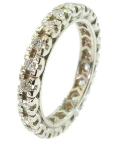 Vintage 18ct Gold Multi Diamond Set Eternity Ring