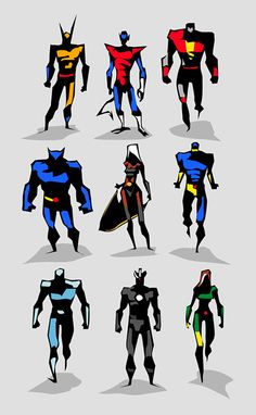 Marvel dc Motu Vector sketches by Bunka , via Behance/