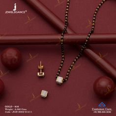Gemstone Mangalsutra gms) - Gemstone Jewellery for Women by Jewelegance Gold Bangles Design, Gold Earrings Designs, Gold Jewellery Design, Gold Mangalsutra Designs, Diamond Mangalsutra, Fancy Jewellery, Gold Jewelry Simple, Gemstone, Indian