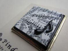 Musician music lover pin brooch by Pinderella on Etsy, $11.95