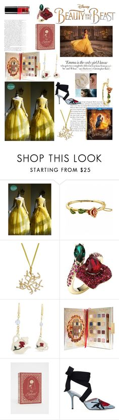 """""""💟Beauty and the Beast 'Belle' Look🌹"""" by suyasha-singh ❤ liked on Polyvore featuring Vanity Fair, Disney, Atelier Swarovski, Christopher Kane, Torrid, Emma Watson, BeautyandtheBeast and contestentry"""