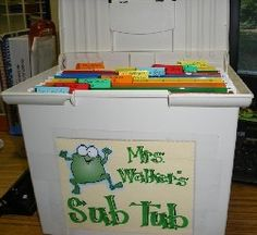 all the information a substitute would ever need when you're absent... and other great ideas!