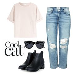"""""""cool cat"""" by gracieekleinn on Polyvore featuring Brunello Cucinelli, Current/Elliott, Le Specs, women's clothing, women, female, woman, misses and juniors"""