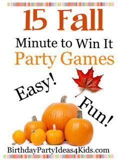 15 Fun, Easy and CHEAP Fall theme Minute to Win it style party games for kids, tweens and teens and adults! Ages 17 years old and beyond! Great games that use household items for lots of Fall / Autumn fun! Harvest Party Games, Fall Party Games, Fall Harvest Party, Fall Games, Holiday Games, Fall Theme Parties, Holiday Fun, Holiday Ideas, Christmas Holidays