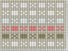 Tricksy Knitter Charts: Alternating blocks-8 stitch repeat pale by Megan Goodacre