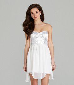 Bachelorette Party?... Hailey Logan Lace Satin Dress #Dillards ...