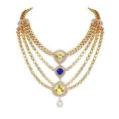 Farah Khan Indo Western polki necklace.