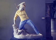 Хипстеры в камне: художник Лео Кайяр продолжает превращать классические скульптуры в хипстеров (14 фото)