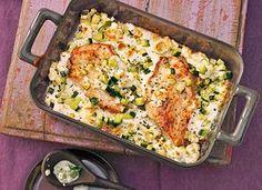 Low Carb Rezepte: Mediterrane Putenschnitzel mit Zucchini und Feta