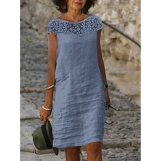 Linen Dresses, Casual Dresses, Formal Dresses, 50 Fashion, Fashion Outfits, Holiday Dresses, Summer Dresses, Straight Dress, Everyday Dresses