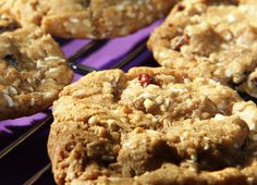Chewy fruit and nut cookies. Half the cookies baked in American households each year are chocolate chip. But there is a whole wealth of other cookie recipes out there for the more adventurous, and this is one of my favourites.