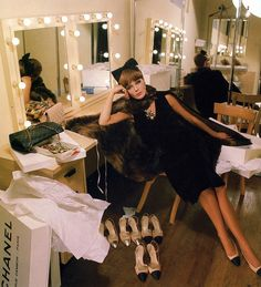 The ultimate in Chanel chic, photo by Helmut Newton, Vogue France September 1964