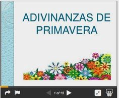La clase de hablar: Adivinanzas de la primavera Dual Language, Spanish Language, Blended Learning, Early Childhood, Presentation, Activities, How To Plan, This Or That Questions, Shiro