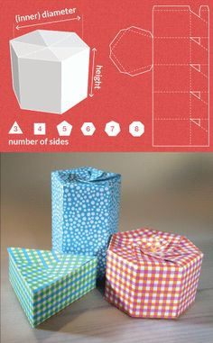 Completely custom sized template for a Polygon-shaped box