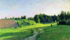 Ombres du soir, 1892 de Isaac Levitan (1860-1900, Lithuania)