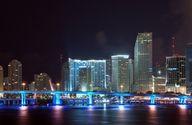 Night view of Downtown Miami