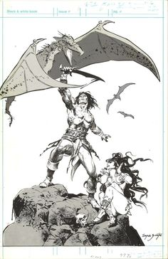 Savage Sword of Conan #38 Inside Front Cover by Tony DeZuniga Comic Art