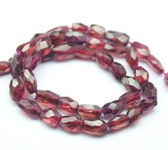 Natural Rhodolite Garnet Faceted Oval Beads Strand, – Jewels Exports