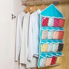 Good Quality Multifunction Socks Toy Underwear Sorting Storage Bag 16 Pockets Hanging Organizer 09WG