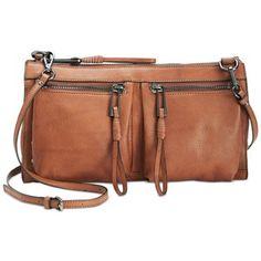 Sanctuary Tailored Rock N  Roll Crossbody Brown Leather Crossbody Bag,  Clutch Wallet, Cross 68c124b8e4