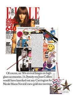 Garland Collects in Elle
