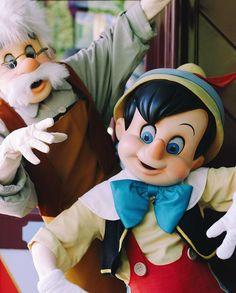 pinocchio and gapetto at disneyland!