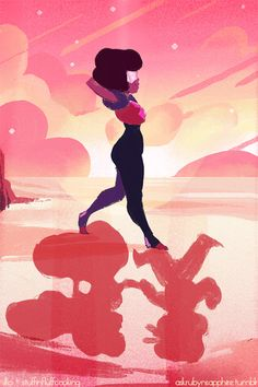 "Steven Universe Fan Art! — askrubynsapphire:  Day 2 is ""Date Night!""  Garnet..."