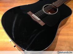 Fender CD-60 Black, akoestische gitaar - Te koop
