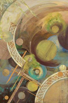 Moons Of Jupiter Painting by Karen Ahuja.