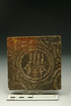 Floor tile Production Date: Medieval; 13th-14th century