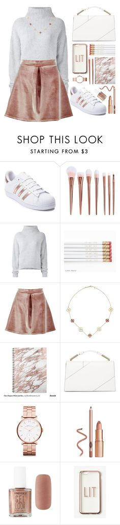 """-- Rose gold --"" by marie-bp ❤ liked on Polyvore featuring adidas, Le Kasha, Boohoo, Chopard, Jason Wu, Marc by Marc Jacobs, Forever 21, Missguided, Sweater and rosegold"
