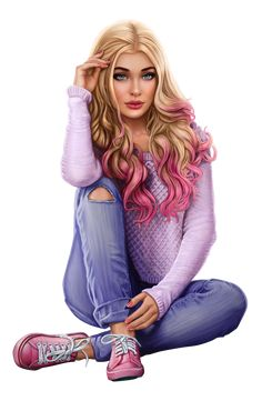The pink girl! Girl Cartoon, Cartoon Art, Evvi Art, Sarra Art, Fashion Art, Girl Fashion, Chica Cool, Friend Anime, Girly M