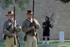 OMG! Found a pic of my husband, the Confederate on the right, on pinterest!  #sanangelo