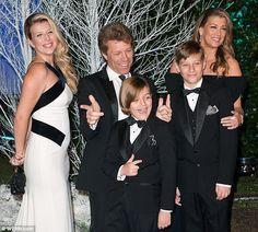 Jon Bon Jovi & Family | Jacob is looking even more like his dad. God bless those genes.